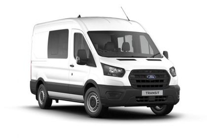 Ford Transit Crew Van 350 L2 RWD 2.0 EcoBlue RWD 130PS Leader Crew Van High Roof Manual [Start Stop] [DCiV]